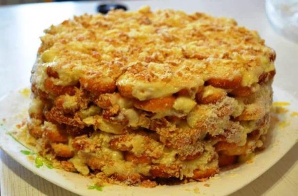 Торт Наполеон без выпечки рецепт с фото 12
