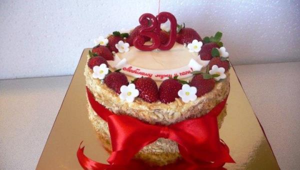 Украшение торта Наполеон фото 15