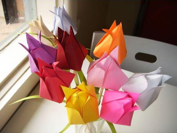 цветы из бумаги фото 5