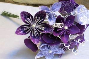цветы оригами из бумаги своими руками схемы поэтапно